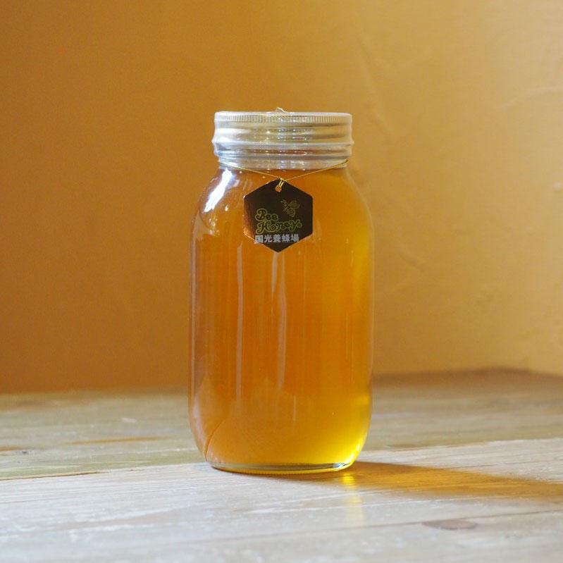 野山の花々の蜜が絶妙にブレンドされたやわらかい薫りとやさしい甘みの蜂蜜,【福岡産純粋蜂蜜】国光養蜂場ヤマハゼ/クロガネモチはちみつ1.2kg,Bee Honey,はちみつオンライン通販ビーハニー