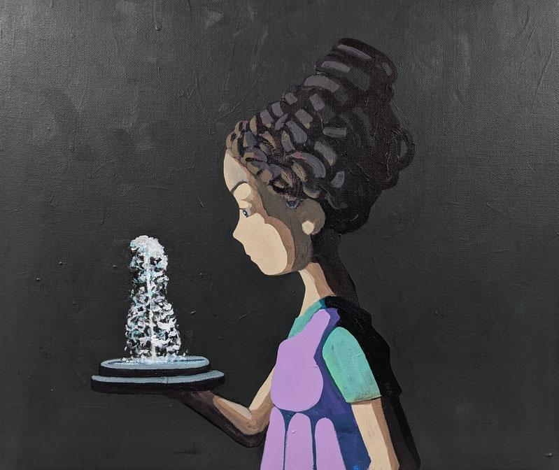 fountain - Acryl auf Leinwand, 50x60cm, 2019 | verkauft