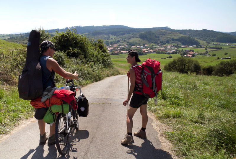 Du piligrimai Šiauriniame kelyje / Foto: Kristina Stalnionytė