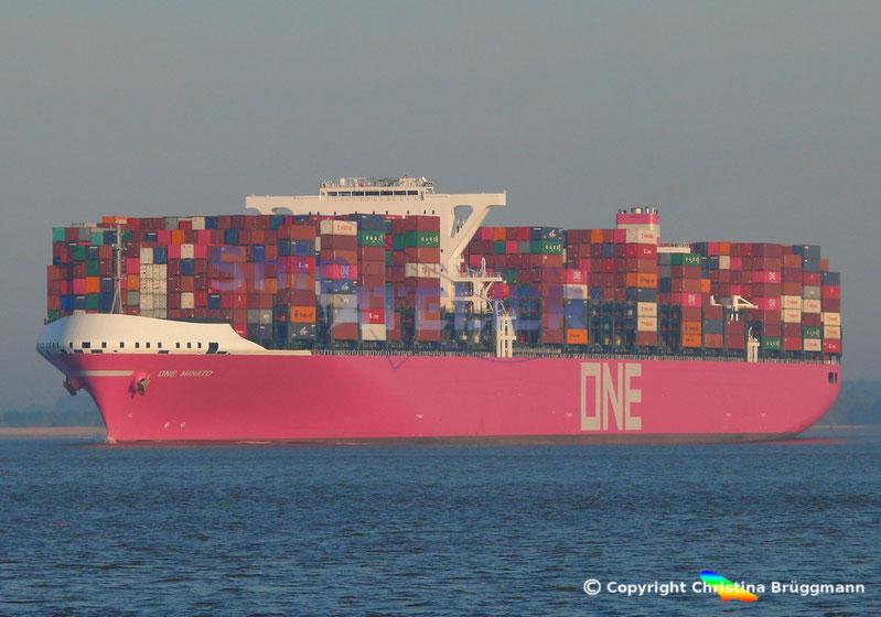 Containerschiff ONE MINATO  Erstbesuch in Hamburg, 24.05.2019