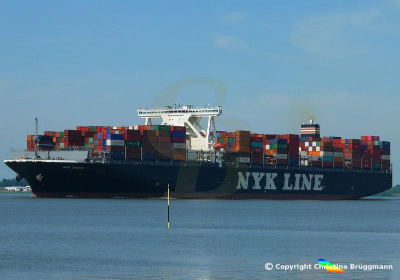 Containerschiff NYK EAGLE auf der Elbe 08.06.2018