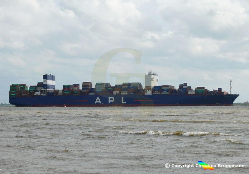 Containerschiff APL LION CITY nach Verlängerung