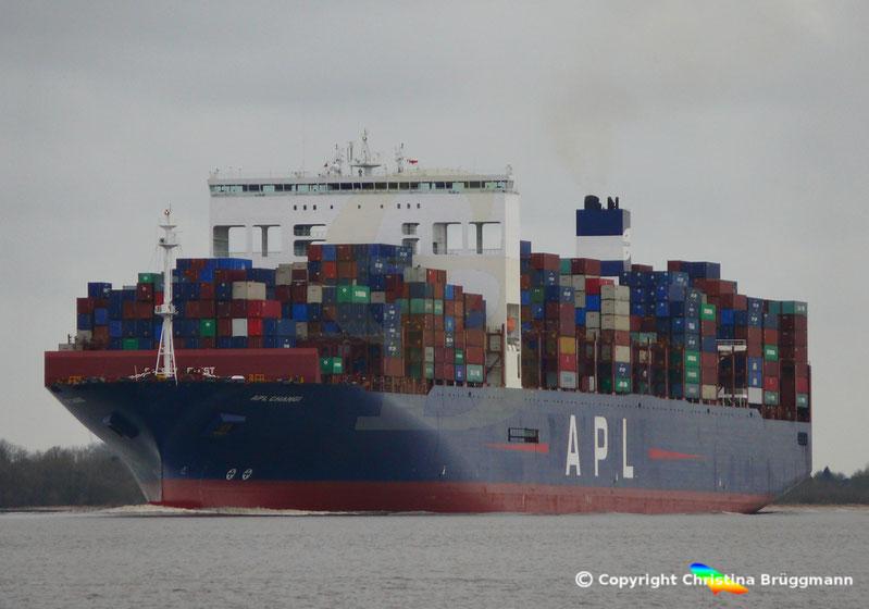 Containerschiff APL CHANGI nach Verlängerung
