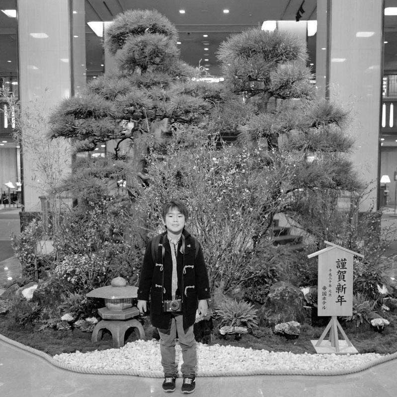 画像: 帝国ホテル メインエントランスの正月飾り