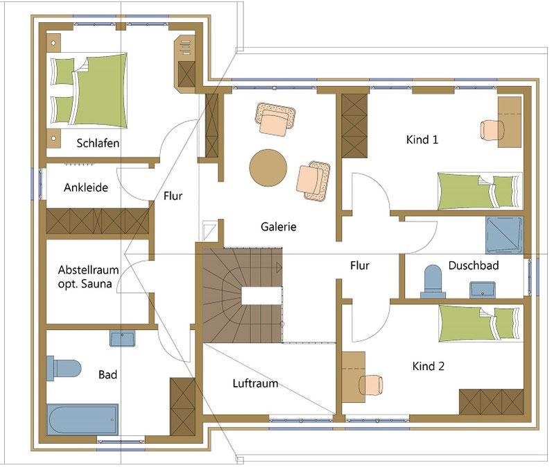 Schwedenhäuser, Holzhäuser typisch amerikanisch