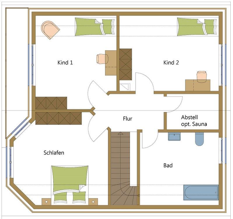 Schwedenhäuser, Holzhäuser wie aus den Alpen
