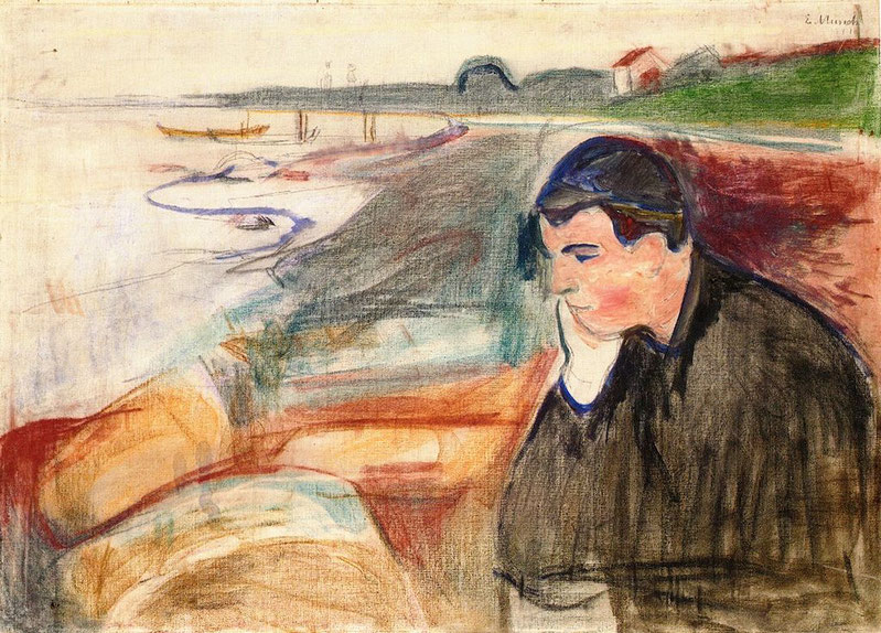 "E. Munch, ""Evening melancholy"" (1891)"