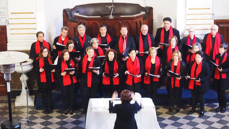 """Tempio valdese di via Naumachia 28: concerto del coro """"Note di pace"""" in occasione del culto di insediamento della past.ra Silvia Rapisarda. ( 8 febbraio 2015 )"""