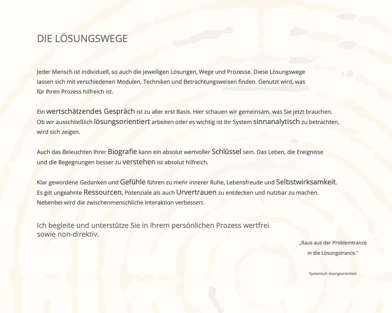 Bild der Ebene Lösungswege mit aktiver Verlinkung zu https://www.juergen-fischer-speyer.de/lösungswege/ leichter leben life coach coaching