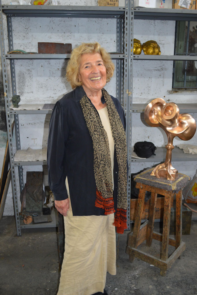 Helaine Blumenfeld OBE supported HEX during his residency in Pietrasanta at Fonderia Artistica Mariani Italy. Richard Deacon was not there but Yves Dana.