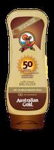 Lotion met bronzer SPF Outdoor Australian Gold Zonnebank creme bronzer zoncosmetica DHA cosmetisch natuurlijk