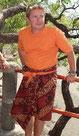 Photo de Jérôme en visite de temple à Bali avec des plongeurs