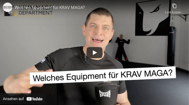 Thumbnail von YouTube Video. Welches Equipment brauche ich für das Krav Maga Training?