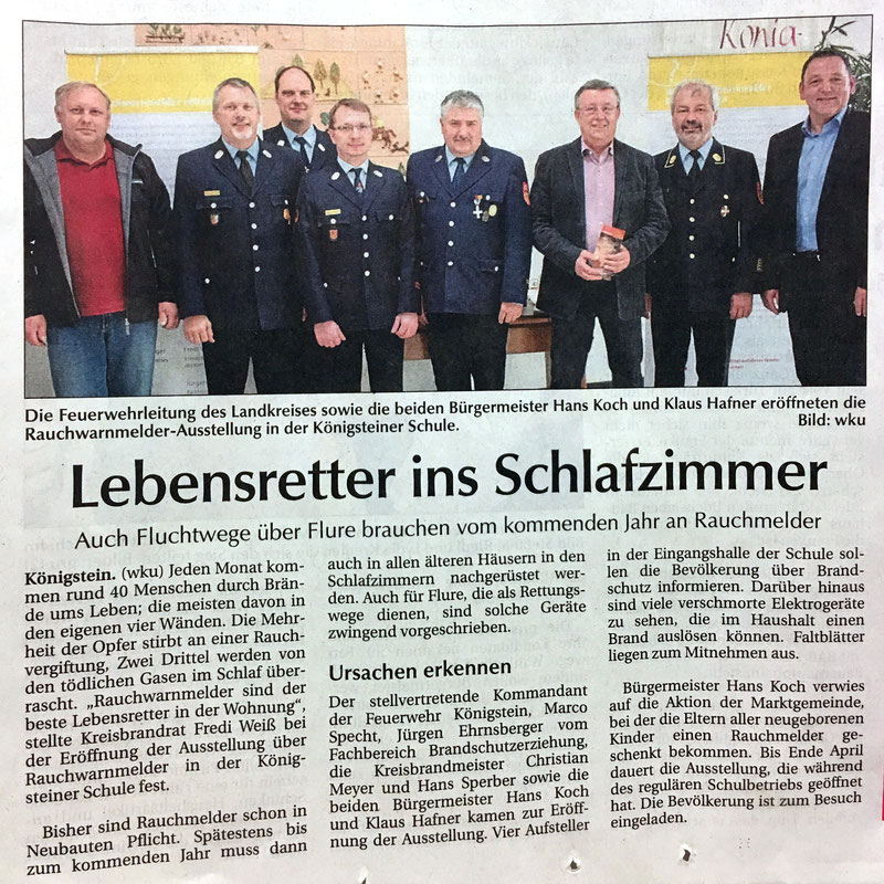 CSU Klaus Hafner Ortsverband Königstein Hirschbach Feuerwehr Königstein Fredi Weiß Specht Marco Brandschutz Rauchmelder
