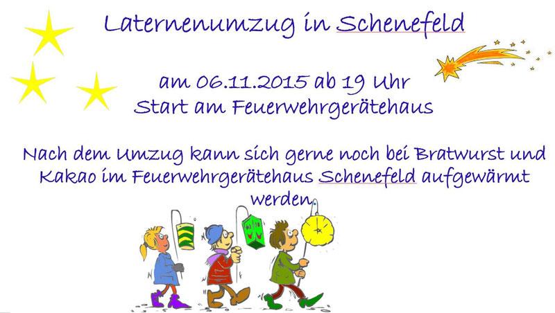 Einladung zum Laternenumzug in #Schenefeld