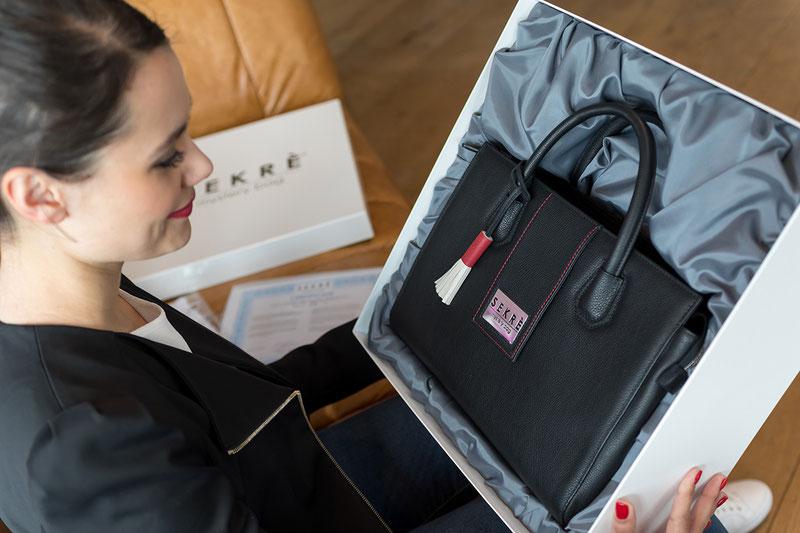 Wertvolles Unikat – Luxus-Handtasche SEKRÈ mystery bag