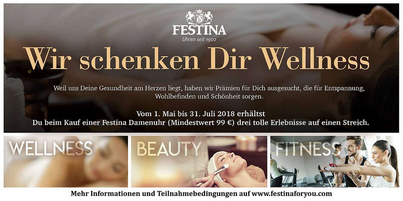 Festina Wellness Gutschein Aktion