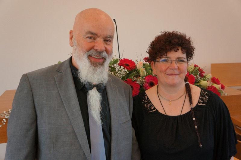 Markus und Sandra beim Silberhochzeit im März 2015
