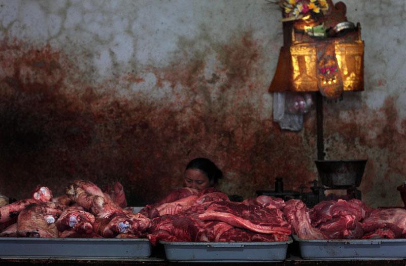 """Accroche coeur"" marché d'Ubud Bali"
