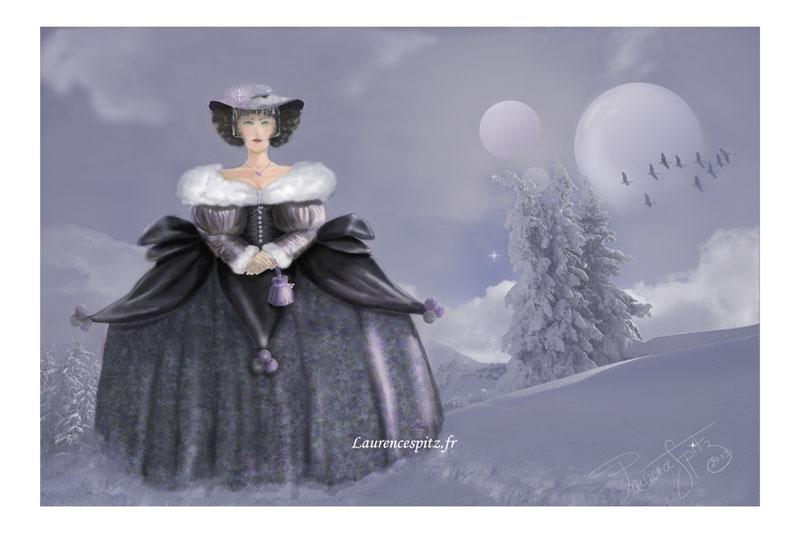 • La Dame de Haute Savoie• (Aéraographe et montage photos)
