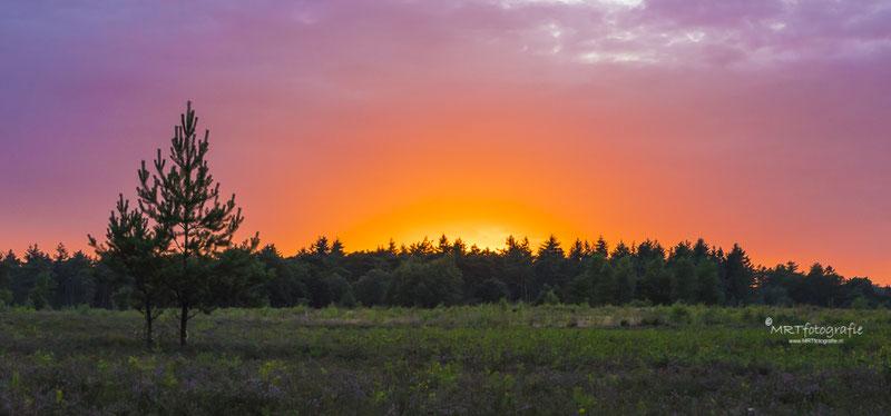Zonsondergang met uitzonder mooie kleuren in Den Treek, Leusden