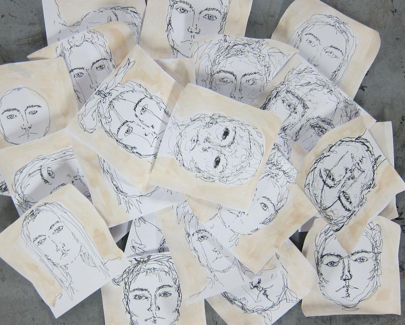 Malen und zeichnen für Mütter mit Kind im Atelier Malkasten Warendorf.