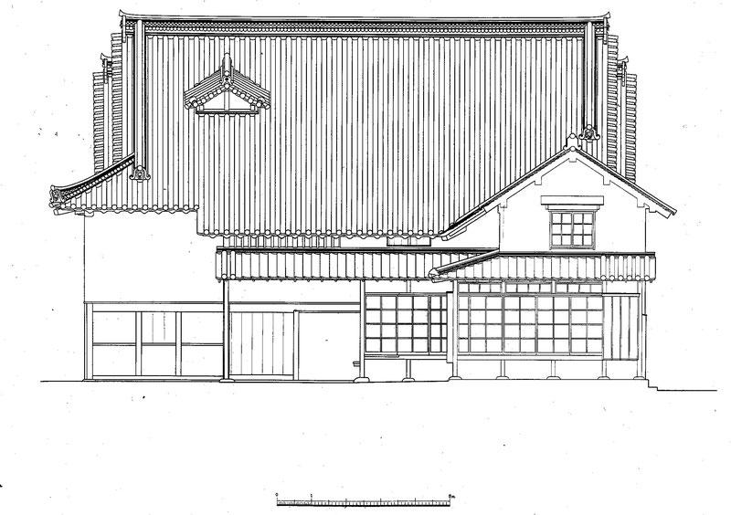 今西家住宅 背面図/Back view