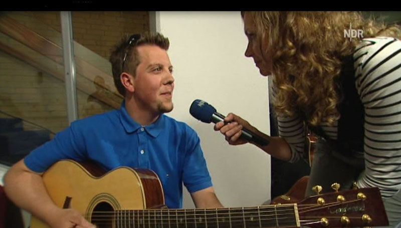 Peter im Interview mit dem NDR