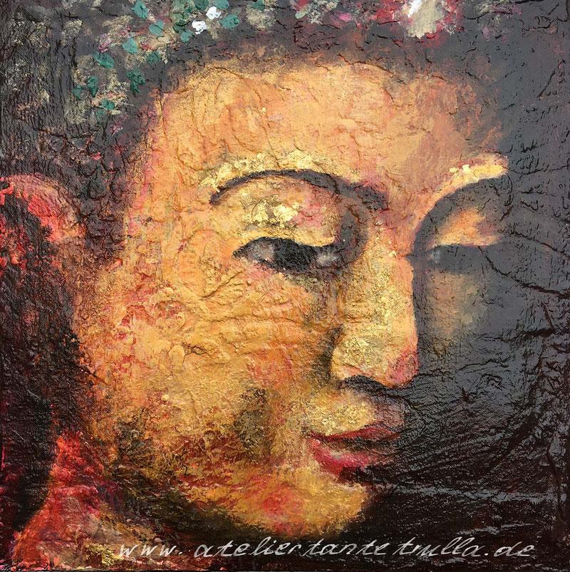 Buddha Gemälde mit Blattgold