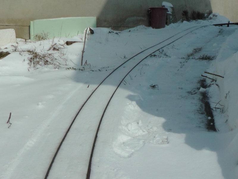 Steilstrecke der Gartenbahn 5 Zoll in Mörbisch, die Steigung beträgt 12.5 %!