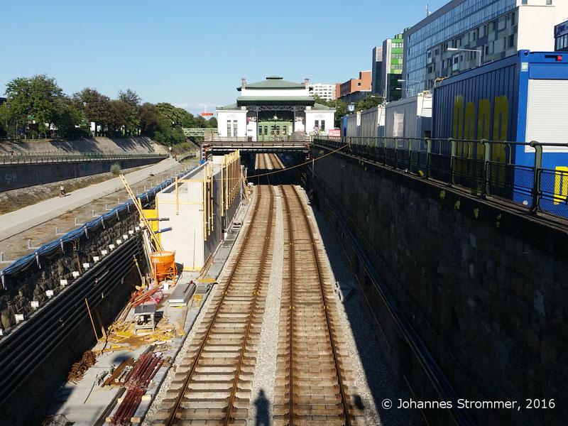 NEU4 - Modernisierung der U-Bahnlinie U4 (03.07.2016), Station Ober St. Veit