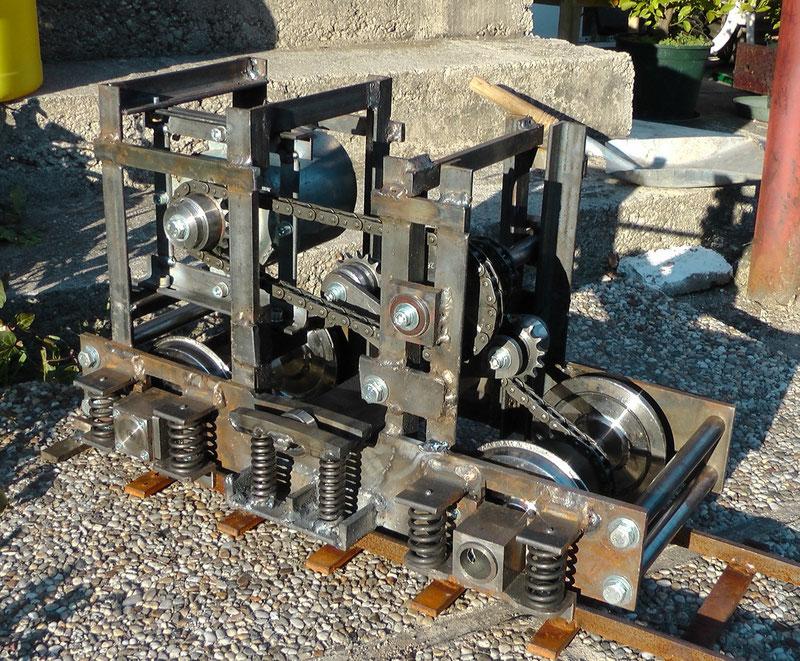 Drehgestell in der Ursprungsausführung meiner Gartebahnlok 1144 in 5 Zoll