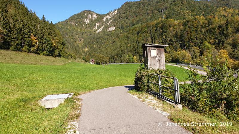 Ehemalige Bahntrasse der Ybbstalbahn bei Mirenau.