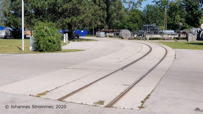 Anschlussgleis Mastlagerplatz Newag Straßenbahn St. Pölten