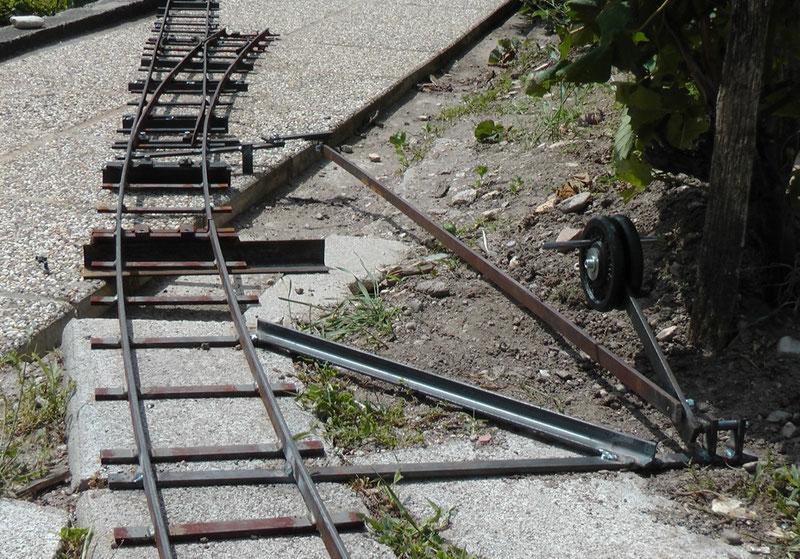 Weiche mit Stellhebel für meine Gartenbahn 5 Zoll (127 mm) in Mörbisch
