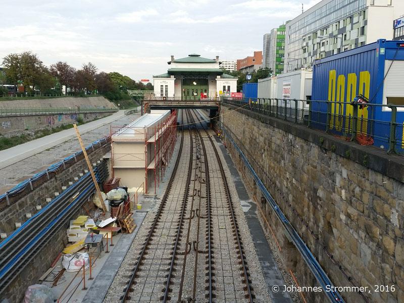 NEU4 - Modernisierung der U-Bahnlinie U4 (28.07.2016), Station Ober St. Veit