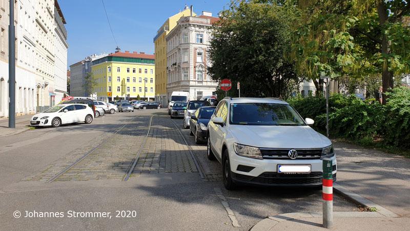 Straßenbahngleise am Antonsplatz bei der Schröttergasse