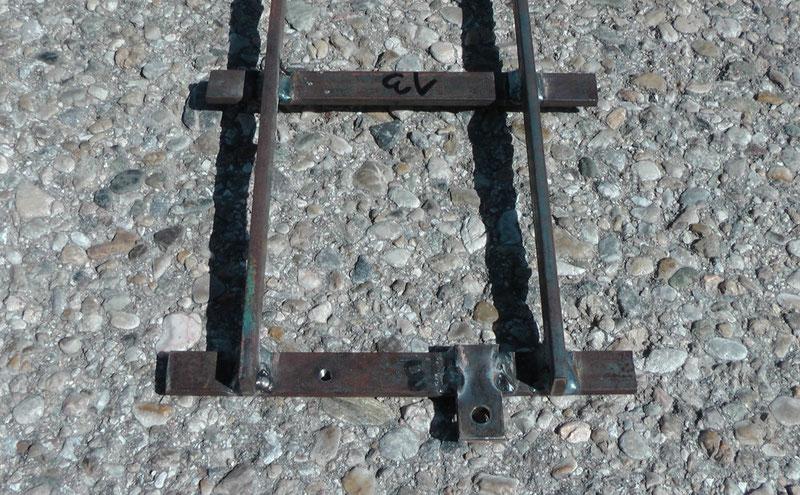 Endschwelle des Gleises in Spur 5 Zoll mit Gewinde und Verbindungslasche