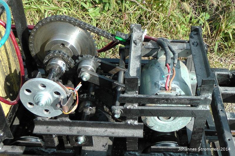 Aktuelle Ausführung des Drehgestells meiner Gartenbahnlokomotive 1144 in 5 Zoll