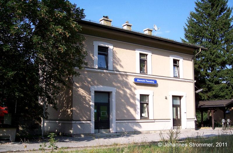 Bahnstrecke Weissenbach-Neuhaus - Hainfeld (Leobersdorfer Bahn); Bahnhofsgebäude von Altenmarkt-Thenneberg