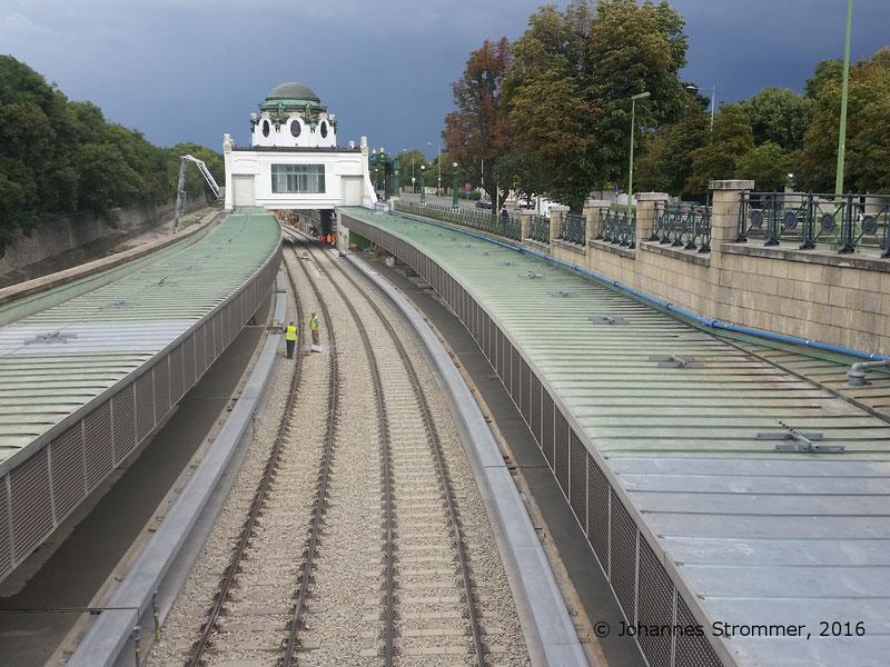 NEU4 - Modernisierung der U-Bahnlinie U4 (09.08.2016), Station Hietzing