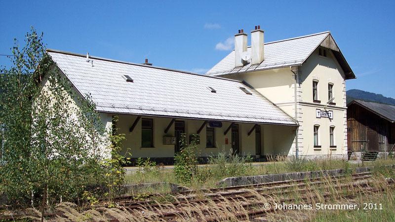 Bahnhof Türnitz der Strecke Freiland - Türnitz mit Gleisen (2011)