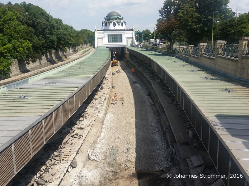 NEU4 - Modernisierung der U-Bahnlinie U4 (08.07.2016), Station Hietzing