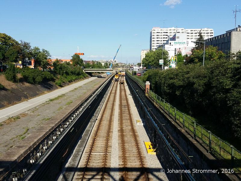 NEU4 - Modernisierung der U-Bahnlinie U4 (03.07.2016), zwischen den Stationen Unter St. Veit und Ober St. Veit
