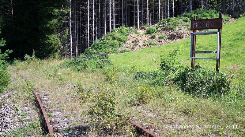 Haltestelle Moosbach der Strecke Freiland - Türnitz 2011