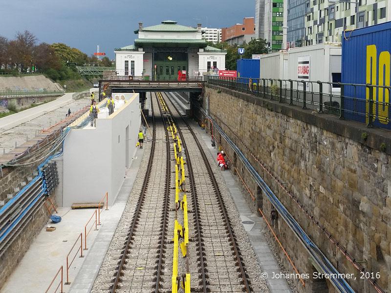 NEU4 - Modernisierung der U-Bahnlinie U4 (09.08.2016), Station Ober St. Veit