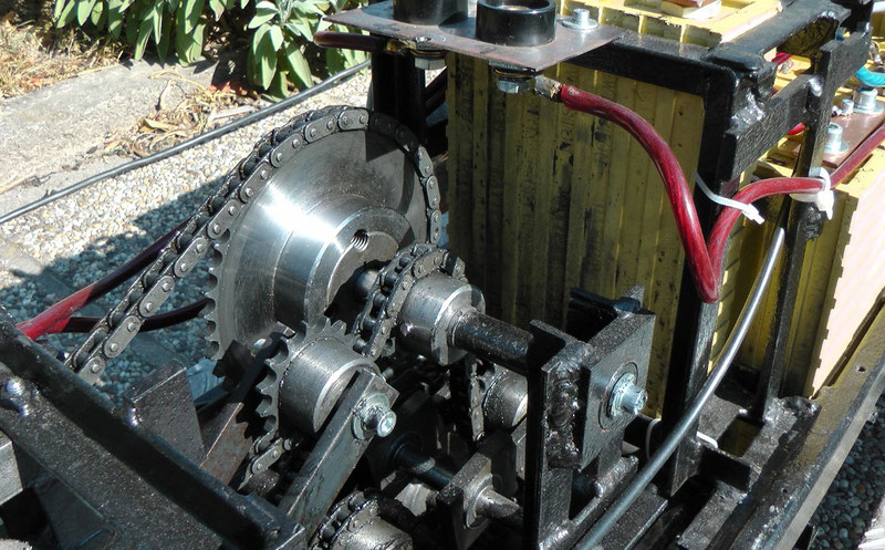 Detailansicht der Getriebezwischenwelle
