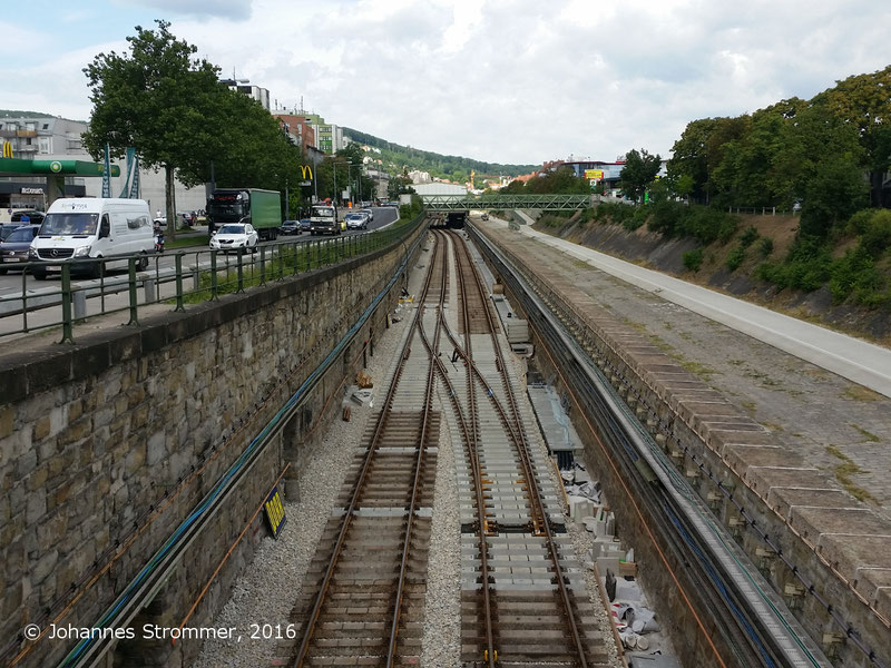 NEU4 - Modernisierung der U-Bahnlinie U4 (06.07.2016), zwischen den Stationen Unter St. Veit und Ober St. Veit