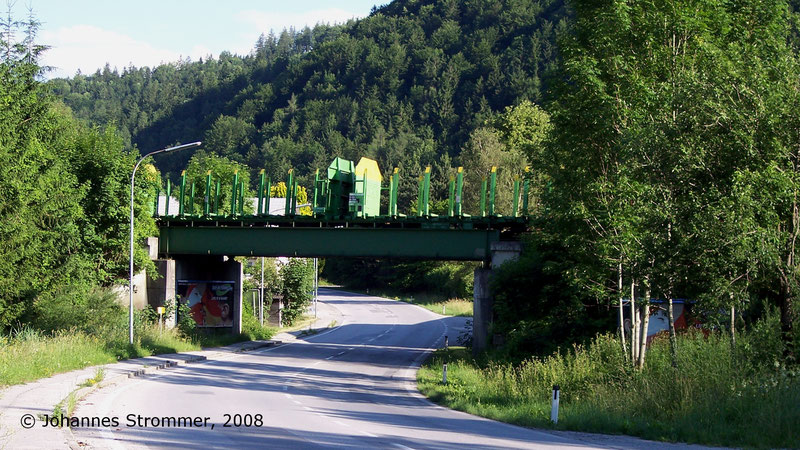 Brücke der Bahnstrecke Freiland Türnitz über die Bundesstraße 214 in Freiland im Jahr 2008