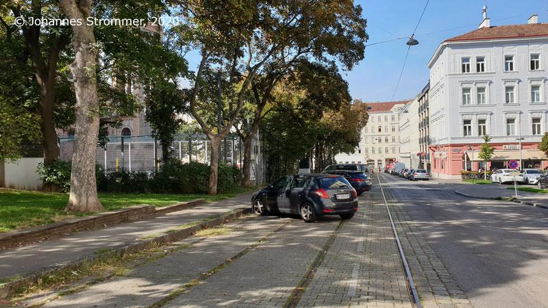 Straßenbahngleise am Antonsplatz